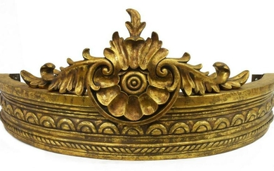 ARCHITECTURAL FRENCH STYLE GILT CARVED CROWN