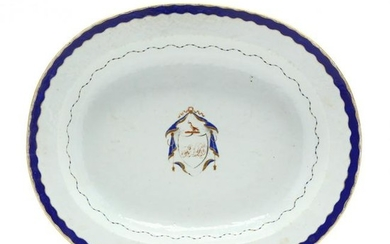 Antique Chinese Export Armorial Platter