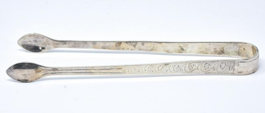 Antique English Georgian 1806 Sterling Silver Tong