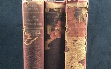 Antique Mark Twain Authorized Hardcover Editions