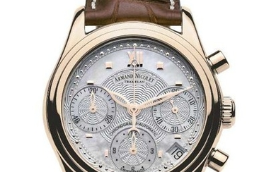 Armand Nicolet - M03 Date Chronograph 18kt Gold - 7154A-AN-P915MR8 - Women - 2011-present