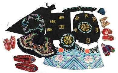 Assorted 20th Century Chinese Costume Accessories, including four pairs of...