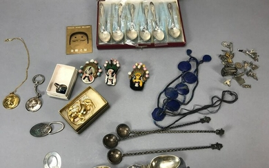 Assorted Silver Spoons and Jewelry