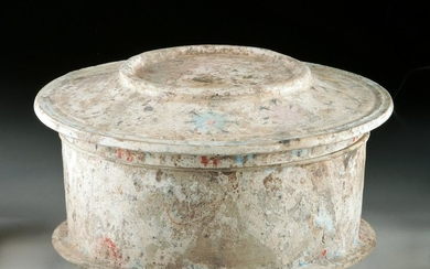 Beautiful Greek Canosan Pottery Lidded Pyxis, TL Tested