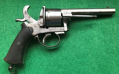 Belgium - BR Marked - THE GUARDIAN AMERICAN MODEL OF 1878 - Double action (DA) - Pinfire (Lefaucheux) - Revolver - 12mm cal