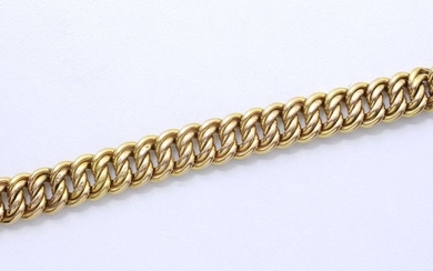 Bracelet in 750 thousandths gold, American chain link,...