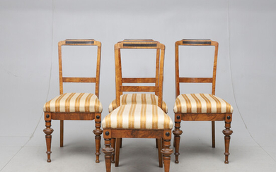 CHAIRS, 4 pcs, second half of the 19th century.
