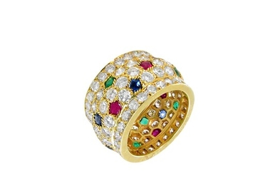 Cartier | Diamond, Ruby, Sapphire and Emerald 'Nigeria' Ring, France