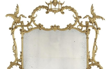 Carved Giltwood Overmantel Mirror