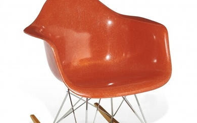 Charles & Ray EAMES (1907-1978 & 1912-1988) Fauteuil basculant mod. R.A.R. - Création 1949