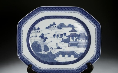 Chinese Blue and White Octagonal Dish