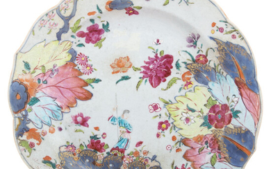 Chinese Export Tobacco Leaf Plate