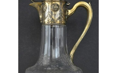Christofle Gallia Silver-plated Crystal Claret Jug