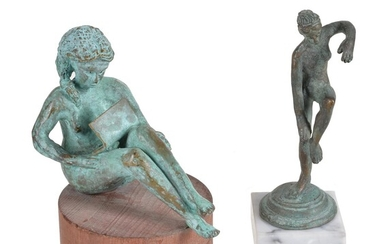 Claudio Parigi (Italian, b.1954), a patinated bronze model called Venere con Computer