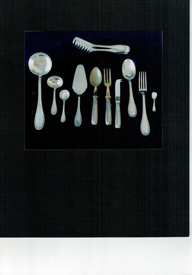 Cutlery set, Cutlery and sugar bowl service (177) - .800 silver - RICCI & C. S.p.A. - Italy - Second half 20th century