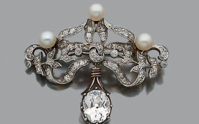 Diamond brooch Old cut