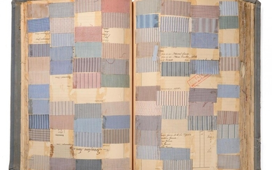 French Fabric Cotton Sample Book, early 20th century Comprising mainly...