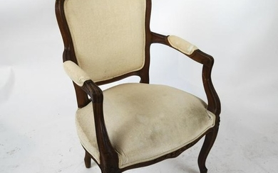 French Louis XV-Style Open Arm Chair