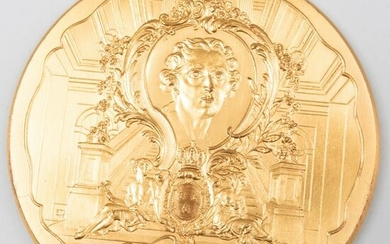 French Medallion Commerating The Hôtel des Monnaies