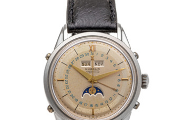 GUBELIN, IPSOMATIC, TRIPLE DATE MOONPHASE, TWO-TONE DIAL