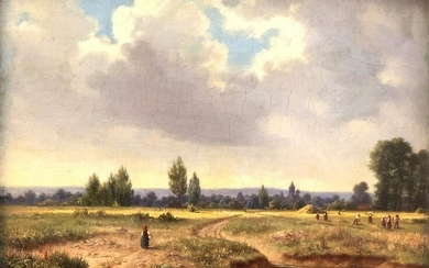 Georg WITTEMANN (1811 - 1889). Haymaking at the