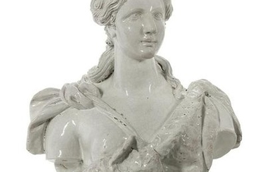 "Glazed Terracotta Bust of ""Athena"""