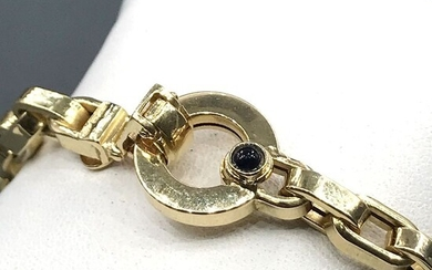 Goldenpoint - 18 kt. Yellow gold - Bracelet - 0.15 ct Sapphire
