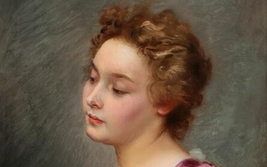 Gustave Jean Jacquet Portrait of a young woman
