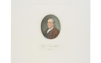 Hand-Colored Print Dr. Benjamin Franklin, Aged 84