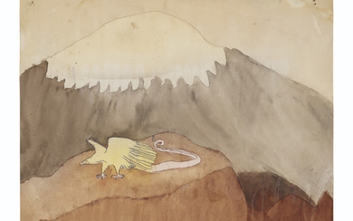 Henry Darger (1892-1973), Golden Eagle Blengiglomenean Creature, circa 1950