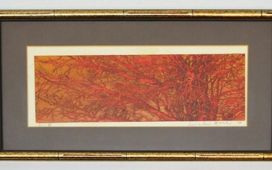 Hoshi Joichi Signed Forest of Star Woodblock Print