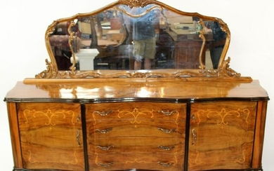 Italian Chippendale inlaid sideboard