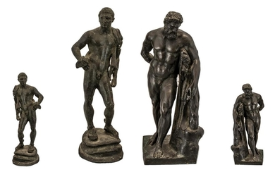 Italian Grand Tour Antique Reduced Bronze Figure of Hercules...