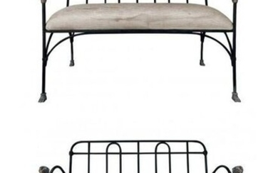 J-Art Iron Co Settees With Lion Heads