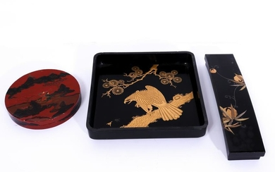 Japanese Lacquered Tray & Boxes