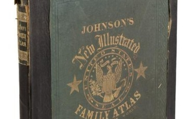 Johnson's Civil War era Family Atlas, 1863
