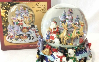 KIRKLAND Christmas Musical Snow Globe W Box