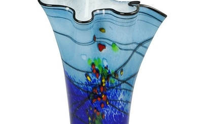Large Signed Murano Glass Vase