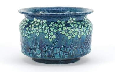 Liberty & Co vase hand painted with stylised flowers,