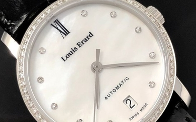 Louis Erard - Automatic Diamond White Mother of Pearl Dial Excellence Collection Swiss Made - 68235SE14.BDC62 - Women - Brand New