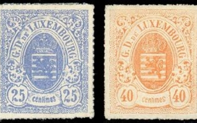 Luxembourg - 4 values. Very lovely. Signed Behr. - Yvert 20 + 20a + 23