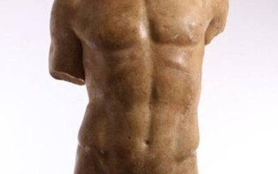 Marble man's torso in the style of the...