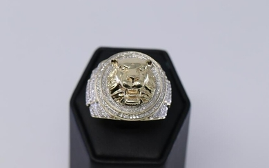 Men's Diamond Lion Ring