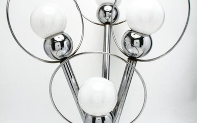 Mid-Century Space Age Sputnik Chrome Lamp