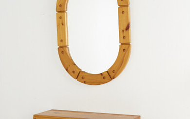 Mirror and console table Spegel samt konsollbord