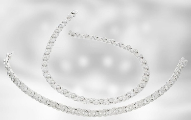 Necklace/necklace/bracelet: interesting variable white gold necklace with rich...