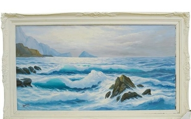 OIl on Canvas Ocean Scene
