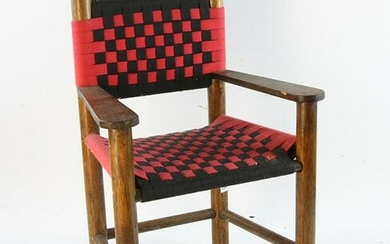 Old Childs Chair with Woven Seat