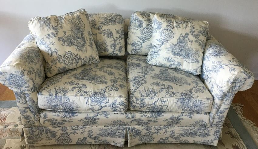 Pennsylvania House Toile Upholstered Love Seat