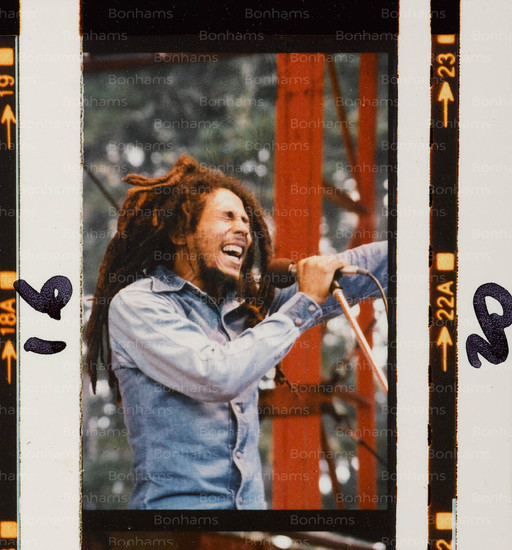 Photographs Of Bob Marley Performing In Auckland, New Zealand
